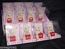 Resin Teddy Bear Valentine costume ring Choice  Love you, Hug Me Be Mine +