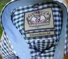 Trachtenhemd in grün-weiss  kariert  Baumwolle Klassiker