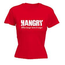 Hangry quand Hunger se transforme en Colère T-shirt femme tee-shirt cadeau d'anniversaire Foodie Grincheux