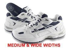 Vionic Walker Men's Plantar Fasciitis Shoe - White/Navy - Orthaheel