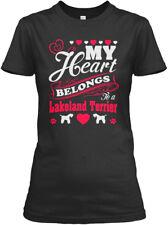 My Heart Belongs To Lakeland Terrier - A Gildan Women's Tee T-Shirt
