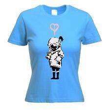 Banksy Think Tank T-shirt femme-Art urbain Blur-Choix de couleurs, S à XL