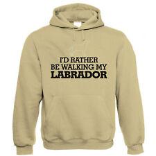 I'd Rather be Walking My Labrador Funny Unisex Hoodie - Gun Dog Gift for Dad Mum