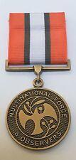 MFO Sinai Full Size Medal, Multi National Observers, Mounted Option, Ribbon