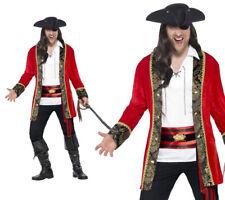 Pirata Disfraz de capitán para hombre de lujo curvas Piratas Traje De Lujo Grande L-XXL