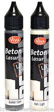 Beton Lasur für Beton Effekt  Paste zur Wahl Hell und Dunkel von VIVA DECOR 28ml