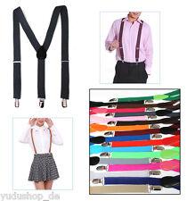 bretelles pour pantalon avec 3 Clips Unisexe farben-freie-wahl