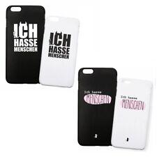 """Handyhülle """"Ich hasse Menschen"""" lustiger Spruch- schwarz/weiß- iPhone & Samsung"""