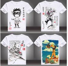 Anime Naruto T-shirt Cartoon Print Sasuke Uchiha Kakashi Hatake Naruto