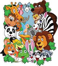 Stickers enfant Animaux jungle réf 3547 ( Dimensions de 10cm à 130cm de hauteur)