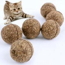 1/5pcs Pet Cat Kitten Natural Catnip Snack Toy Funny Menthol Flavor Treats Ball