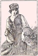 CINZANO-donnina '800-popolana-cesto-vermohut-spumante