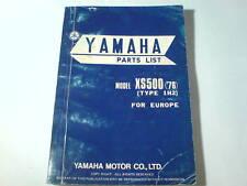 Ersatzteilliste / Spare Parts List Yamaha XS 500 / XS500 '76 Stand 01/1976