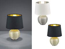 LED Tischleuchten Design Klassiker mit Textil Schirm rund Wohnzimmerlampe modern
