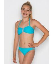 Boobs&Bloomers Mädchen Fiene Bandeau Bikini-Set Blau und Orange Größe: XXS bis M