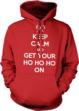 Keep Calm And Get Your Ho Ho Ho On Christmas Santa Candy Canes Hoodie Sweatshirt