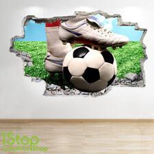 FOOTBALL WALL STICKER 3D LOOK - BOYS KIDS BEDROOM STADIUM WALL DECAL Z549