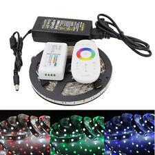 5m 300 LED flexible strip light 5050 RGB RGBW RGBWW 2.4G RF remote power adapter