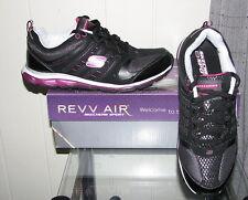 Skechers Women's Revv Air Instill Athletic Shoes SIZES! Black or Silver NIB