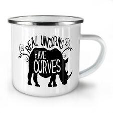 Unicorns Have Curves NEW Enamel Tea Mug 10 oz | Wellcoda