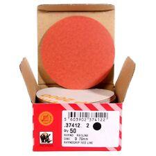 Schleifscheiben 77 mm Schleifpapier INDASA Red 50 Stück für Excenterschleifer