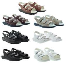 Propet W0001 Womens Leather Comfort Breeze Walker Open Toe Comfort Sandals