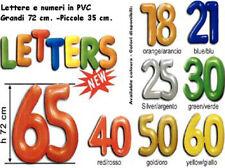 PVC Numeri Palloncino a Coppia 72cm Colori Assortiti