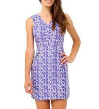 New Womens Zip Dress Ladies Blue V Dresses Size 8 10 12 14