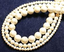HOWLITH BLANC 10 mm perles boules environ Bijoux Perles Gemme 1 Strang