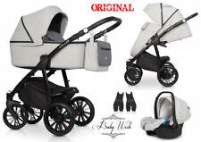 RIKO VILLA BABY PRAM 2in1, 3in1 CARRYCOT + PUSHCHAIR + CAR SEAT + Isofix Base