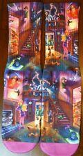 Custom Scooby Doo Haunted House dry fit socks V VI VIII grape bred gamma