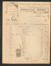 """ALBI (81) PAPIERS PEINTS & LINOLEUM """"Pierre-Paul BIRBES"""" en 1901"""