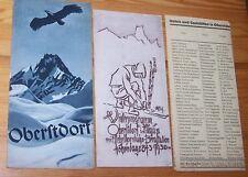 OBERSTDORF - Allgäuer Alpen # 1935 Reise-Werbung Prospekt