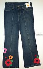 Gymboree Brightest in Class Flower Denim Bootcut Jeans Girls 10 12 NEW NWT