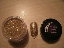 Glitteratti 26 Gold Glitter Pre-Mixed Acrylic Powder OPI NSI Nail Art