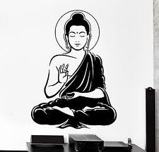 Wall Vinyl Decal Buddha Buddhism Calm Meditation Bedroom Decor z4090