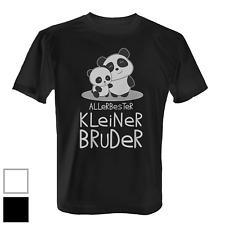 Allerbester kleiner Bruder Herren T-Shirt Panda Bär Geschenk Idee Geschwister