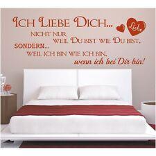 Spruch WANDTATTOO Ich Liebe Dich wie Du Wandsticker Wandaufkleber Sticker