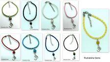 Corded Gemstone Bead Bracelet New Age Healing Chakra Reiki Jewellery Gift Om Aum