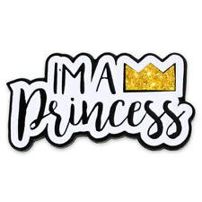 PinMart's I'm A Princess w/ Crown Trendy Gliter Enamel Lapel Pin