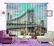 3D Iron bridge5 Blockout Photo Curtain Printing Curtains Drapes Fabric Window AU