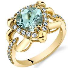 Oravo 14K Yellow Gold 1.50 carat Aquamarine Homage Ring