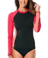 Jag Sport Black & Pink Long Sleeve Rashguard BNWT Med & Large