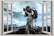 STAR WARS Battlefront 3D Window Decal WALL STICKER Art Mural Stormtrooper H253