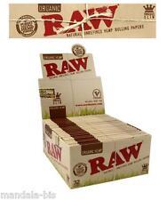 RAW SLIM Organic Chanvre  Lot de 10 ou 15 Carnets de Feuilles Au Choix