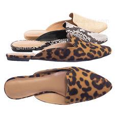 Blog44 Slip On Mule Slippers - Women Flat Backless Pointed Toe Pump