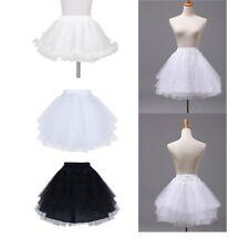 Kids Girls Hoopless Petticoat Tutu Crinoline Underskirt Slips Wedding Dress Gown