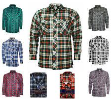 Mens Flannel Lumberjack Check Brushed Cotton Work BIG PLUS Shirt Sizes M to 5XL