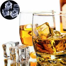 5-30PCS Fake Artificial Acrylic Ice Cubes Crystal Square Bar Club Supplier Decor