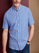 JACAMO COBALT ARCHER BLUE GINGHAM CHECK SHORT SLEEVED SHIRT PLUS SIZE  FREE P&P